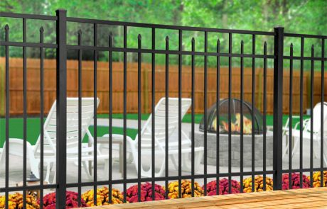 Iron Fencing by Firepit