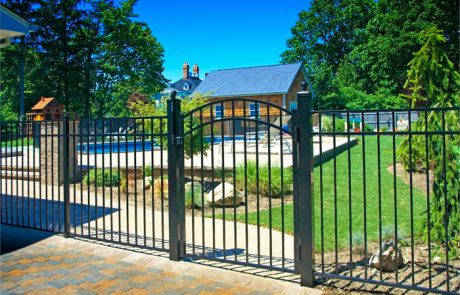 Iron Fencing by Pool