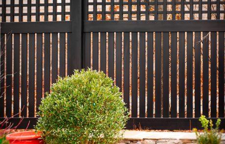 Black PVC Vinyl Fencing