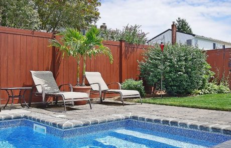 Brown Fencing by Pool