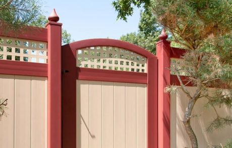 Red and Tan PVC Fencing