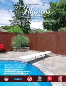 Illusion Vinyl Fencing Brochure with Pool