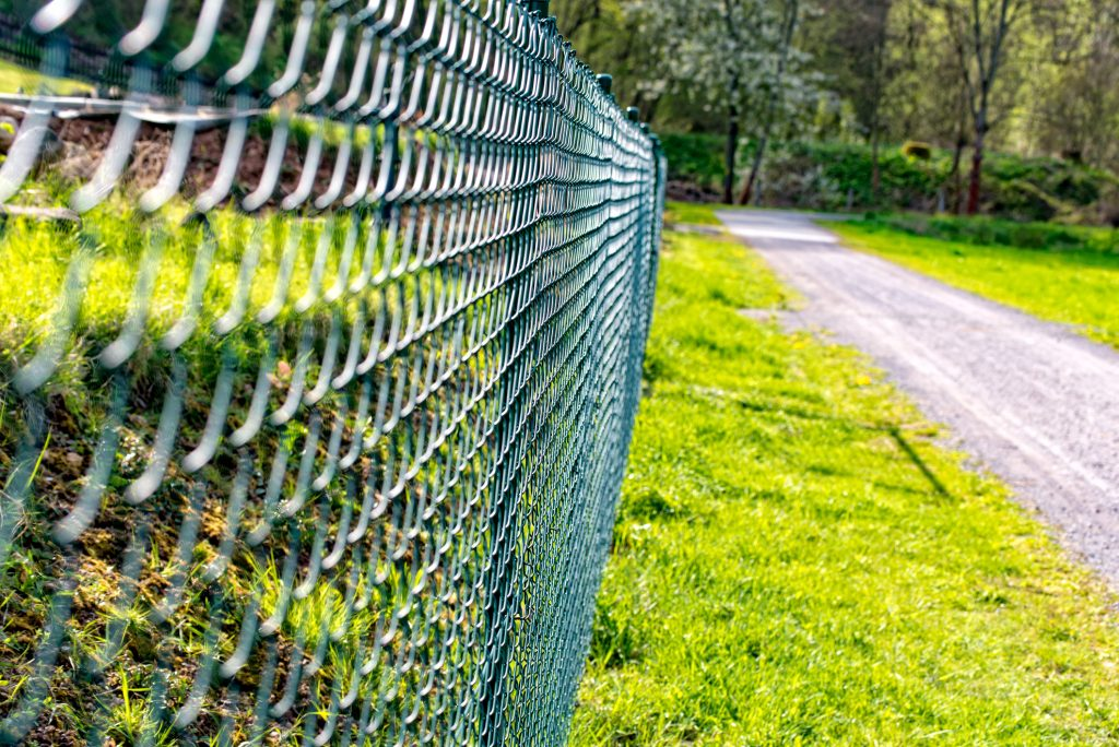 Chain Link Fencing along road